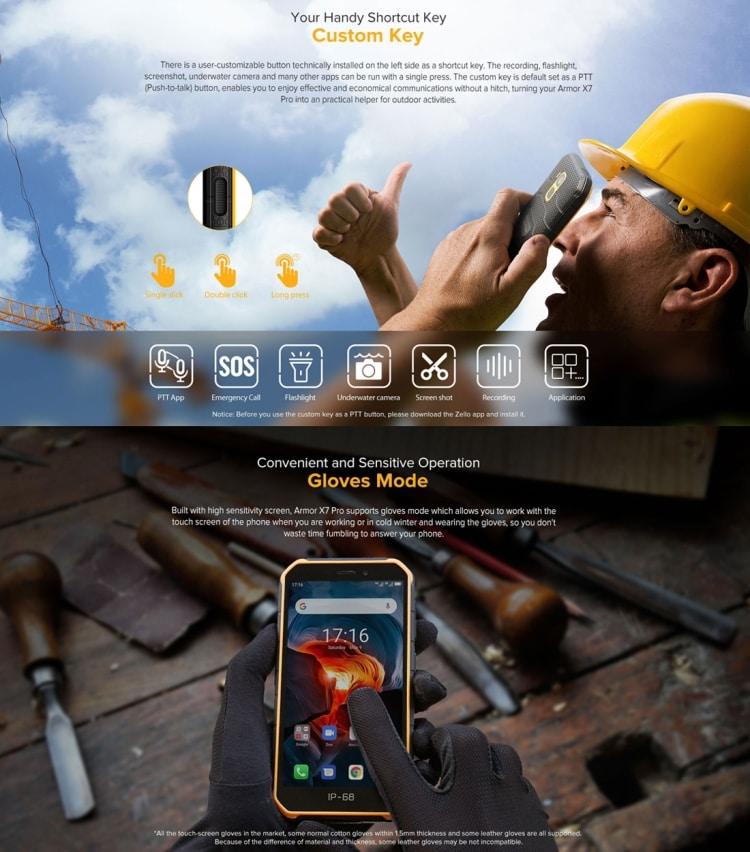 Ulefone Armor X7 Pro Rugged Phone, 4GB+32GB (Yellow) - 7