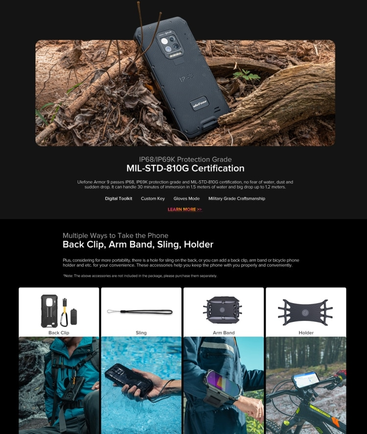 Ulefone Armor 9 Rugged Phone, Thermal Imaging Camera, 8GB+128GB - 12
