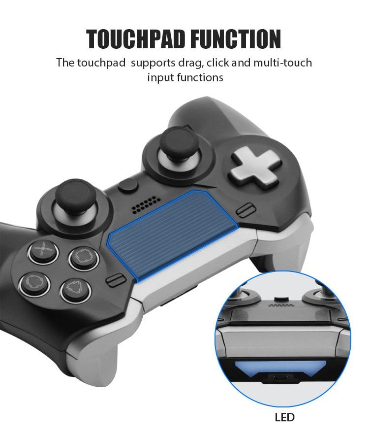 Elite BT Game Controller Wireless Bluetooth Dual Shock Vibration Joystick Built-in headphone speaker for PS4 - 3