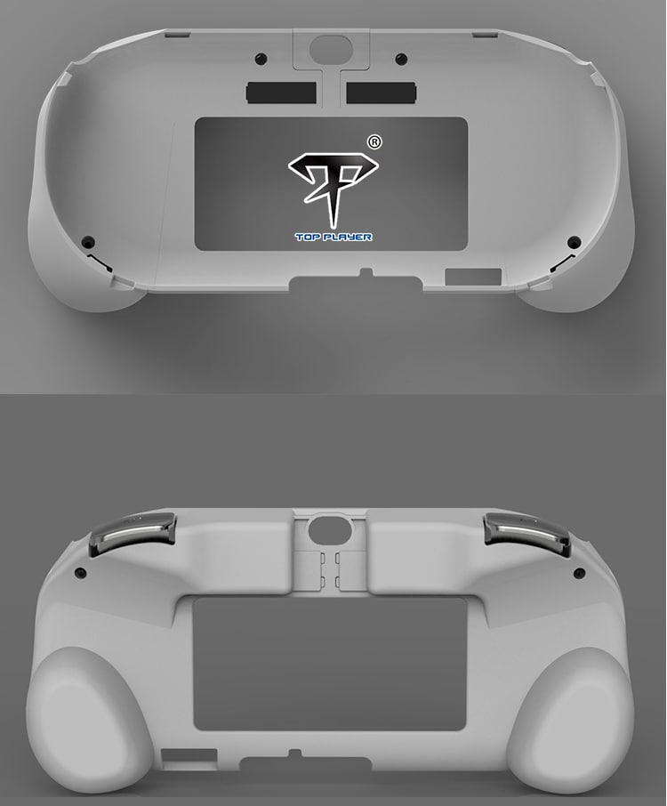 L2 R2 Hand Grip Handle Case & L3 R3 Trigger Button Touchpad White For PS VITA 2000 - 6