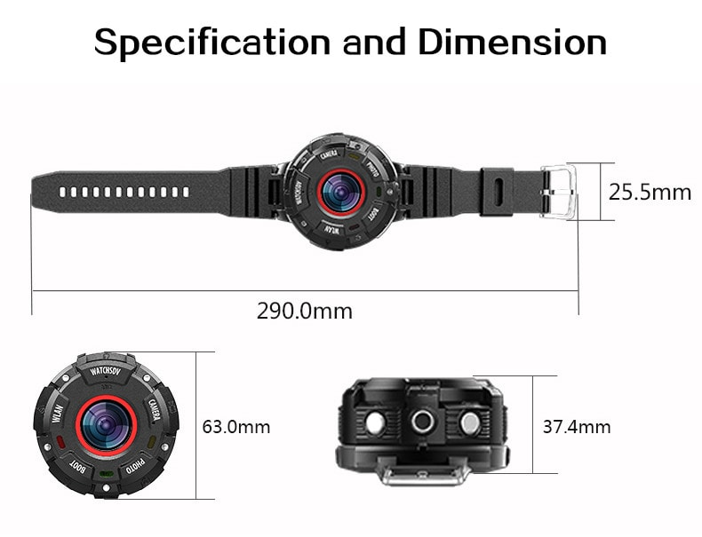 Wearable and Detachable Smart Sports Camera - 1080P, APP, Wifi, Magnetic Base, Waterproof, Hunting Camera - 7