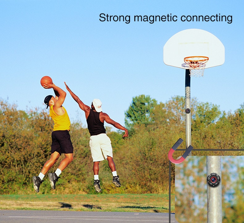 Wearable and Detachable Smart Sports Camera - 1080P, APP, Wifi, Magnetic Base, Waterproof, Hunting Camera - 12