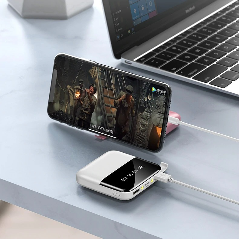 Mini Powerbank 30000mAh Fast Charger for all Smartphones White: Clear 3000-4999 mAh - 2