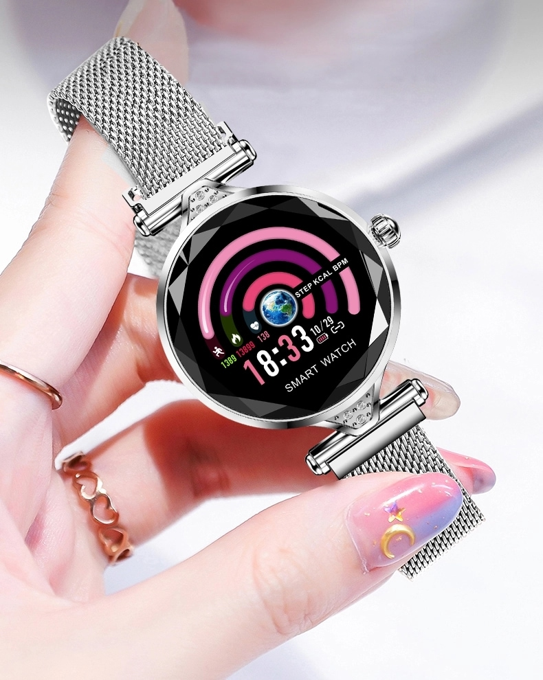H1 Waterproof Women Lady Fashion Smart Watch Bracelet Sport Fitness Tracker Blue CHINA - 6
