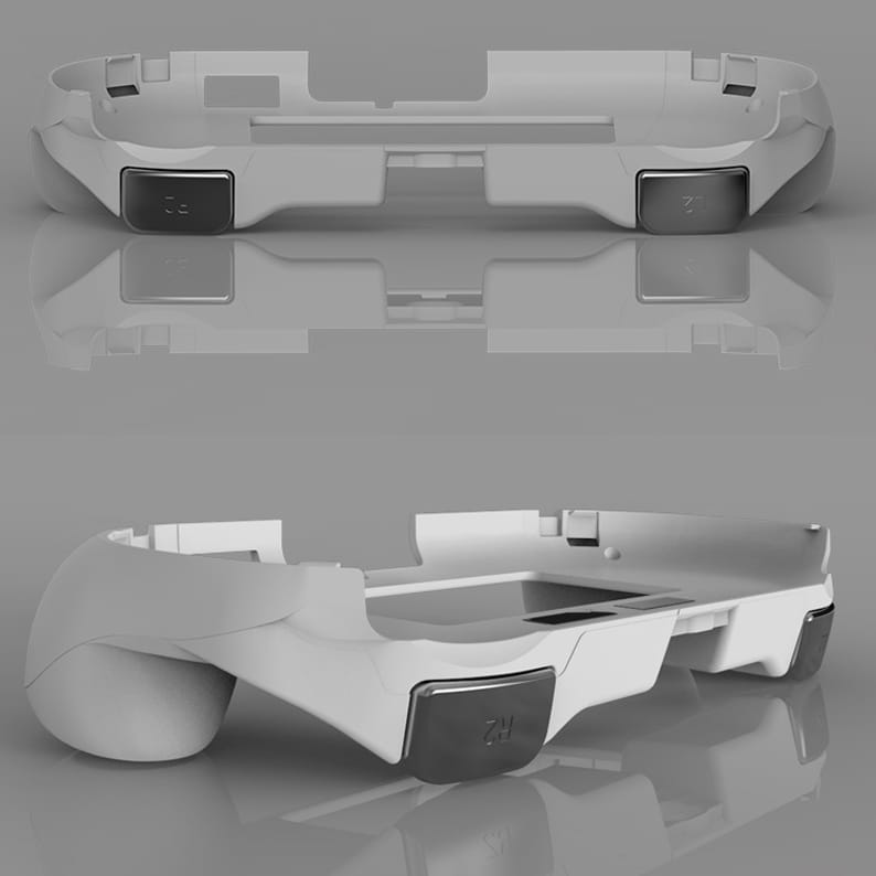 L2 R2 Hand Grip Handle Case & L3 R3 Trigger Button Touchpad White For PS VITA 2000 - 4