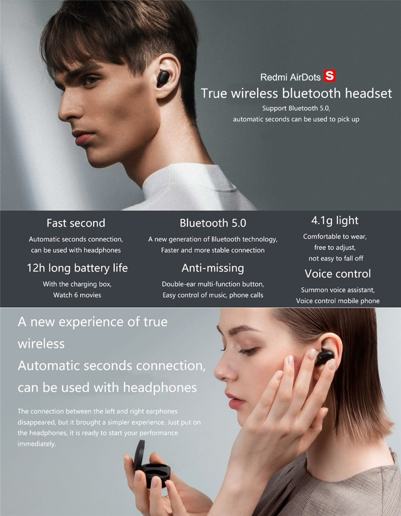 Xiaomi Redmi AirDots S Wireless Stereo Earphone - 5