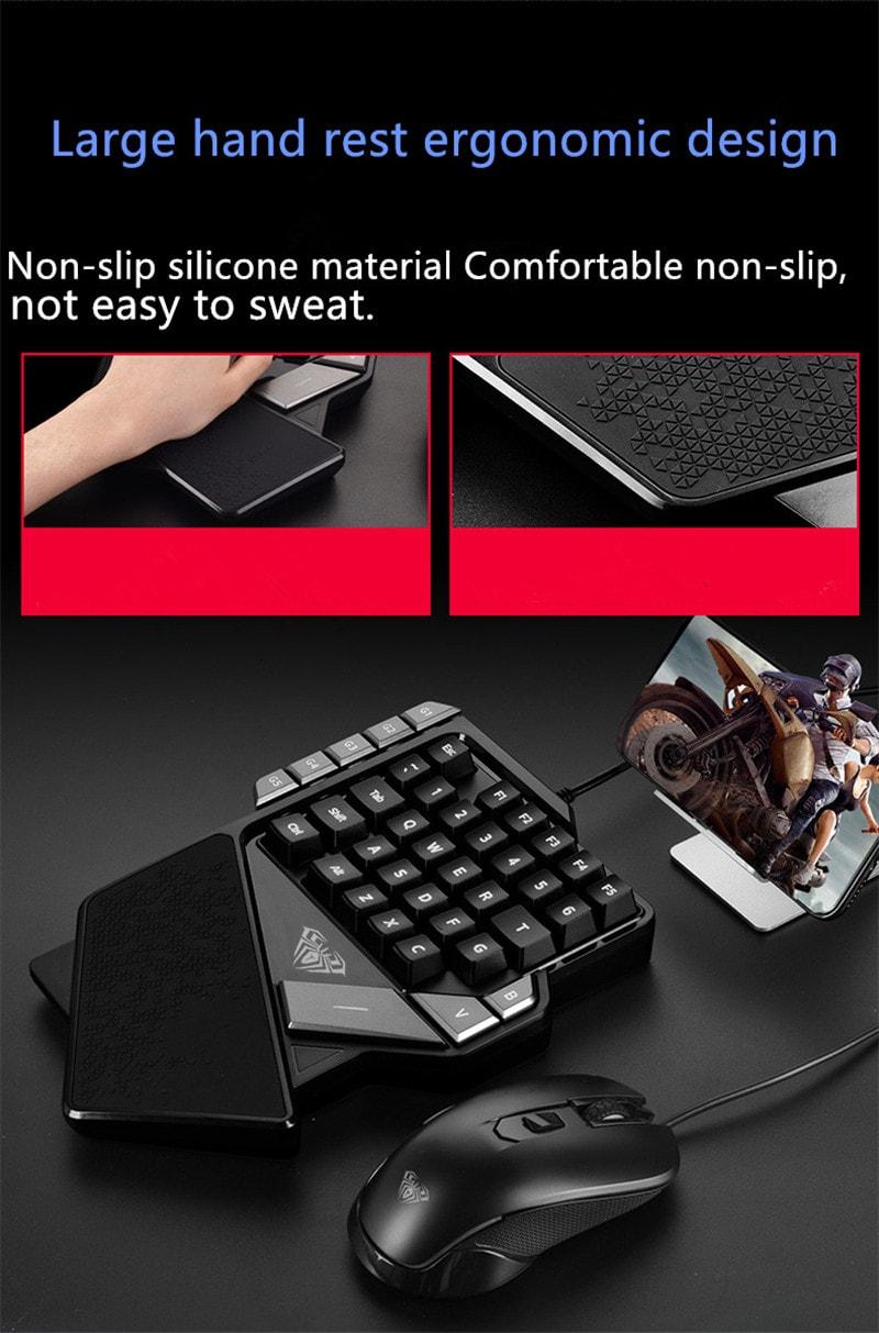 AULA One-Handed Mini Gaming Keyboard Backlight 27 keys Anti-Ghosting - 8