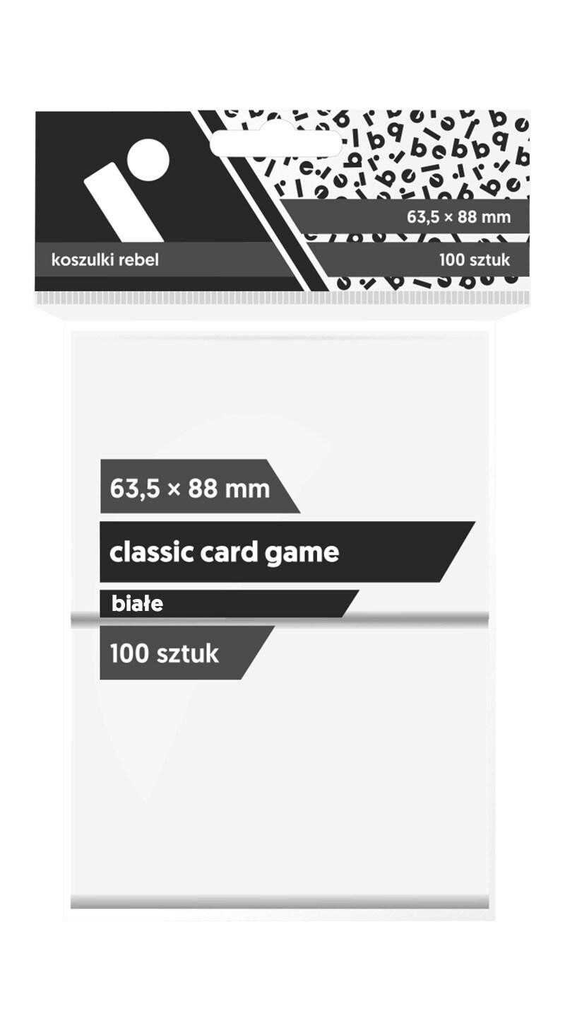 Koszulki Rebel (63,5x88) Classic Card Game 100 szt. - Białe - 1