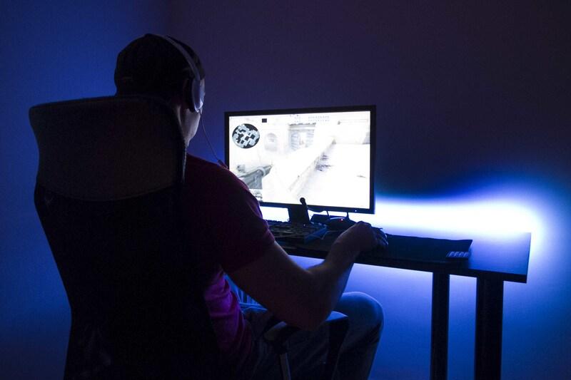 SyberDesk PRO LED Black Gaming - 4