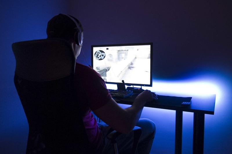 SyberDesk PRO LED USB Black Gaming - 6
