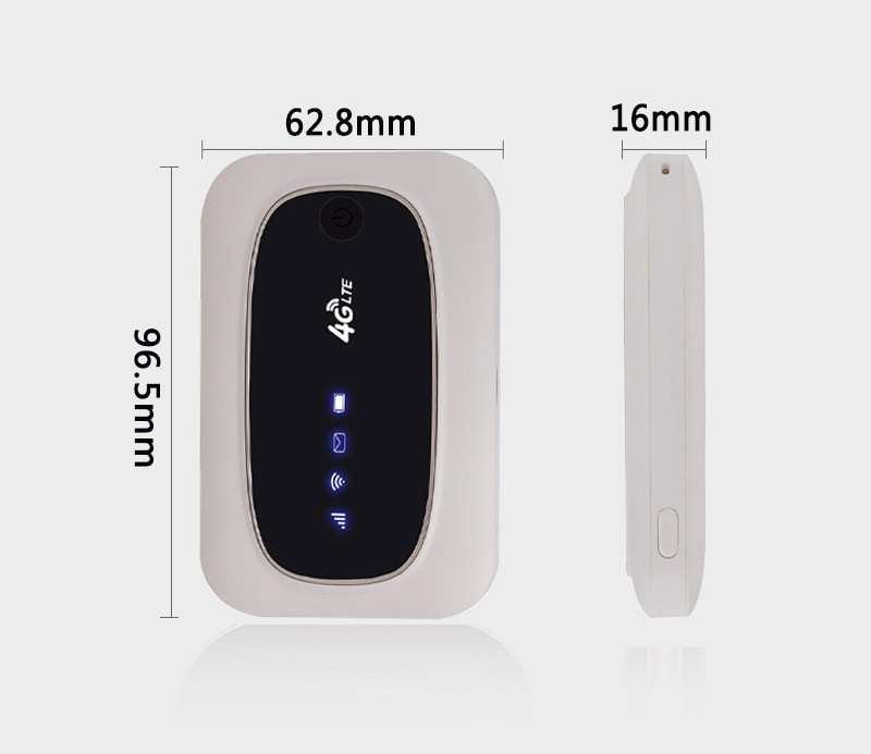 4G WiFi Mobile Modem Router - 2000mAh Battery, 2.4GHz WiFi, 4G Download 150M, Support 10 Devices - 4