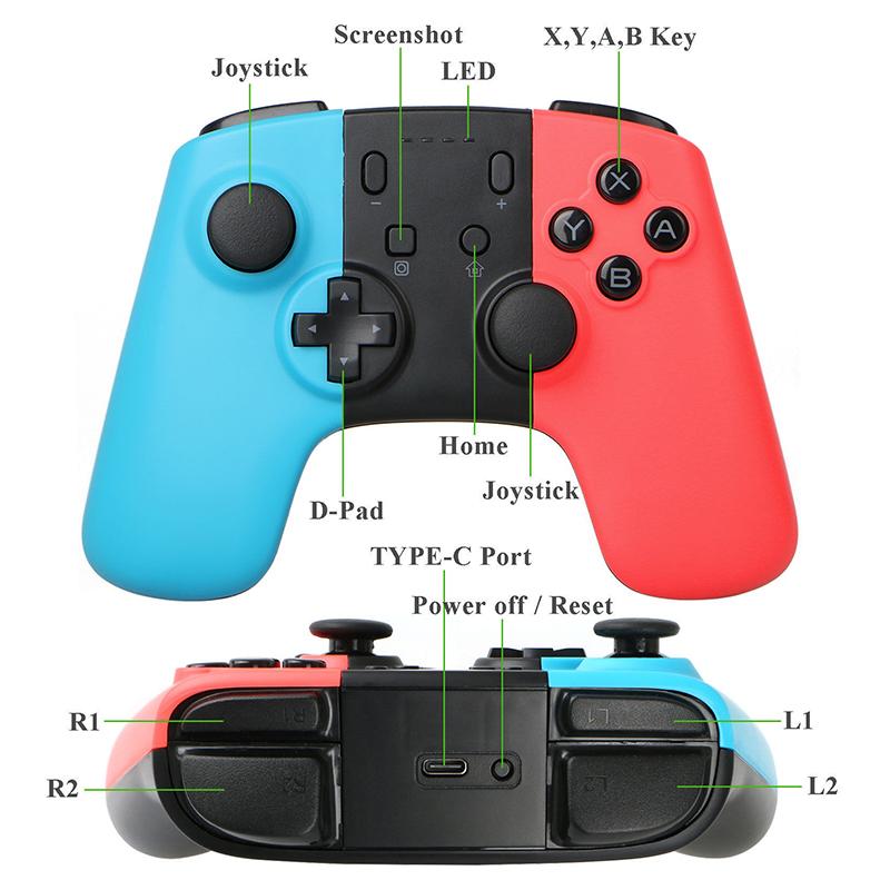 2PCS Wireless Game Pad Controller Joypad - 5