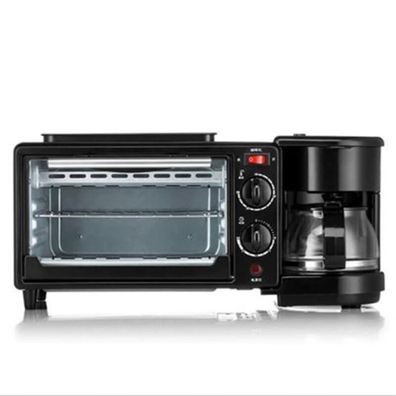 3 in 1 Breakfast Making Machine Multifunction Mini Drip Coffee Maker Bread Pizza Oven Frying Pan Toaster Breakfast Machi Black - 4