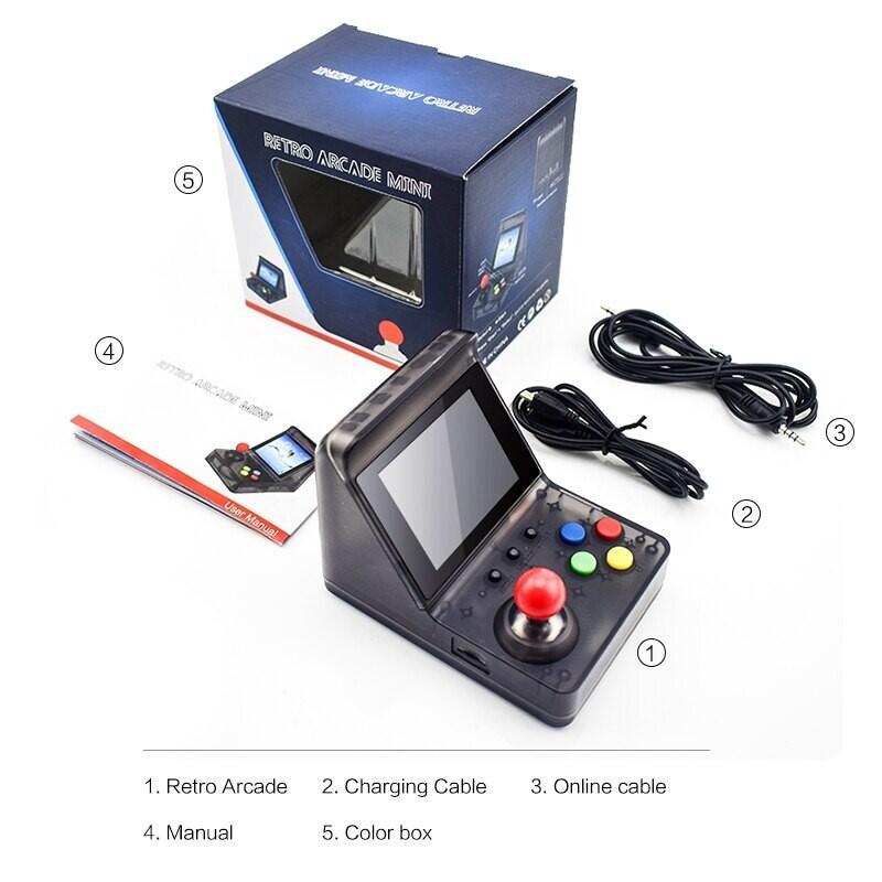 32 Bit Retro ARCADE Mini Video Game Console 3.0 Inch Built In 520 Games Handheld Game Console - 6