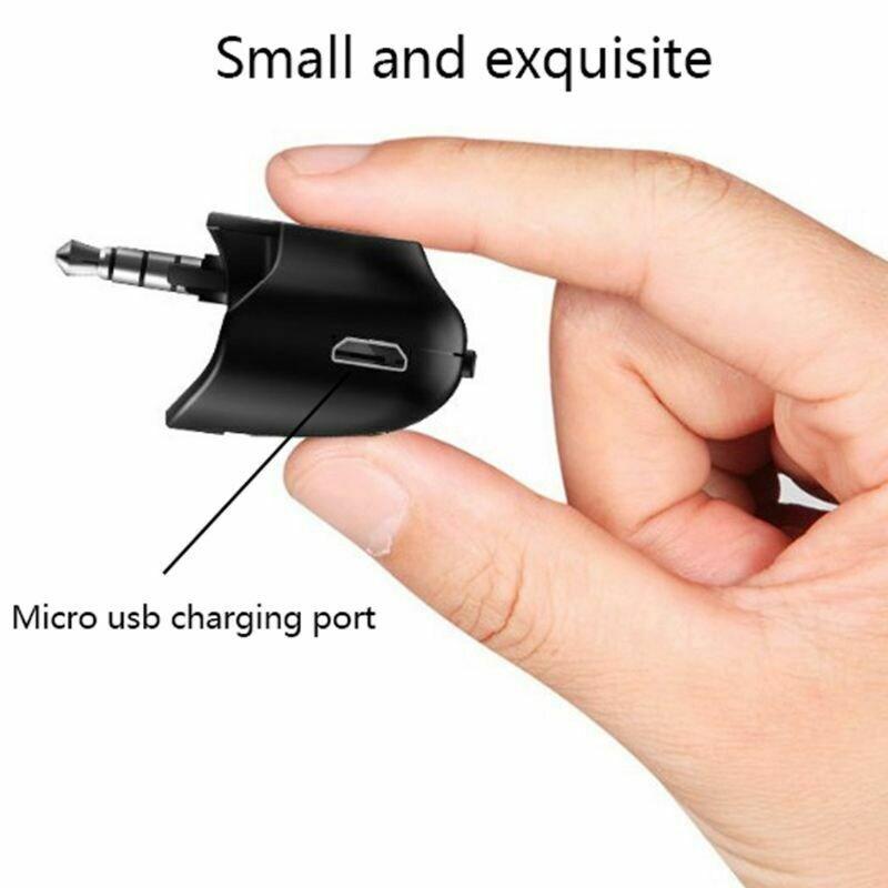 3.5 Jack Bluetooth 5.0 Audio Transmitter Earphone/Wireless Headset/Adapter Converter for Universal PS4 PS5 Controller Black - 4