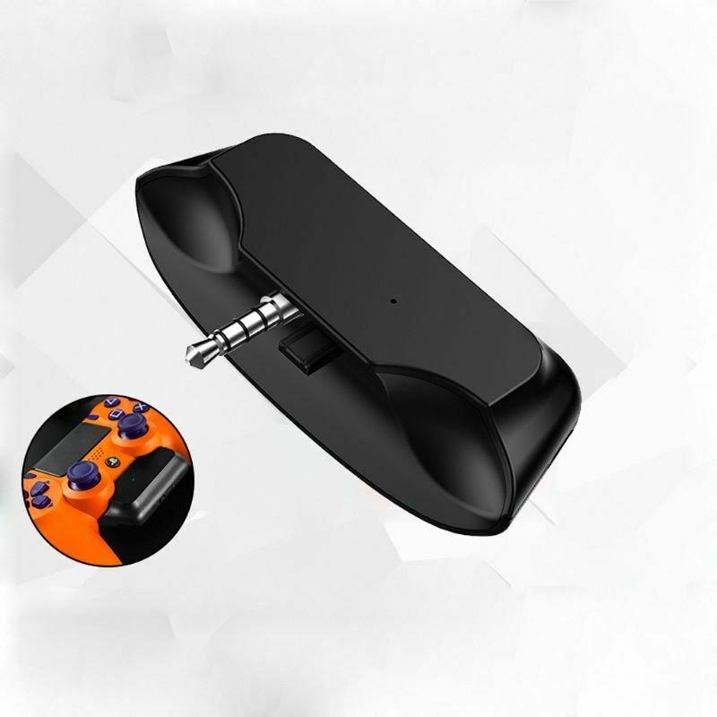 3.5 Jack Bluetooth 5.0 Audio Transmitter Earphone/Wireless Headset/Adapter Converter for Universal PS4 PS5 Controller Black - 1