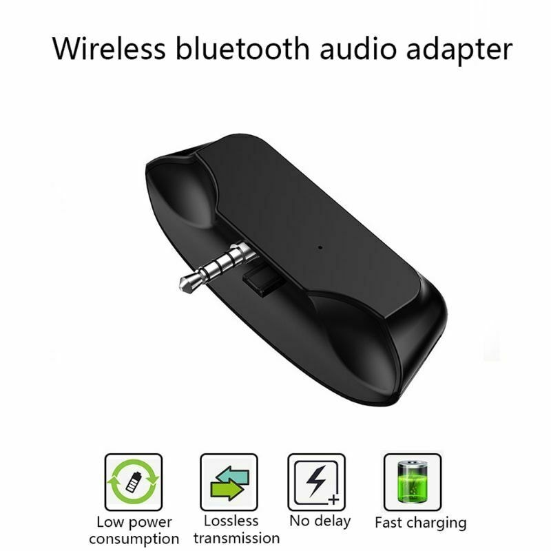 3.5 Jack Bluetooth 5.0 Audio Transmitter Earphone/Wireless Headset/Adapter Converter for Universal PS4 PS5 Controller Black - 2