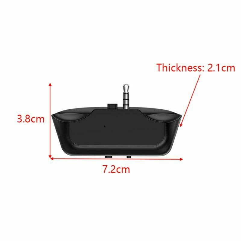 3.5 Jack Bluetooth 5.0 Audio Transmitter Earphone/Wireless Headset/Adapter Converter for Universal PS4 PS5 Controller Black - 7