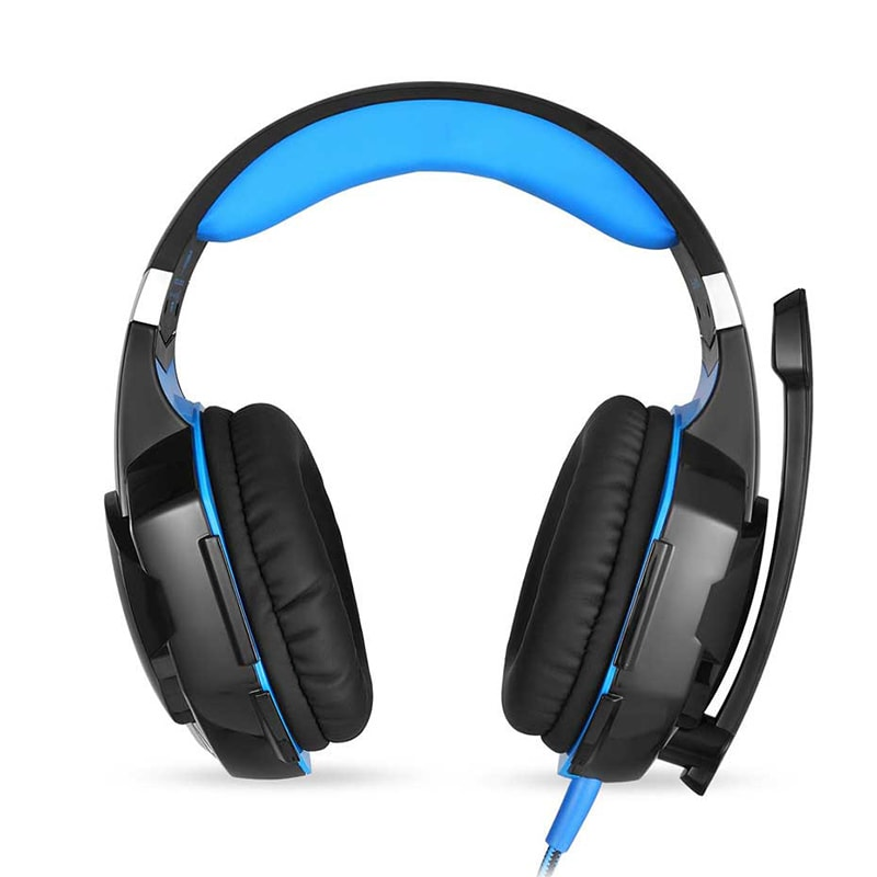 3.5mm Gaming Headset Mic LED Headphones Stereo Surround for PS3 PS4 Xbox ONE 360 Blue - 2