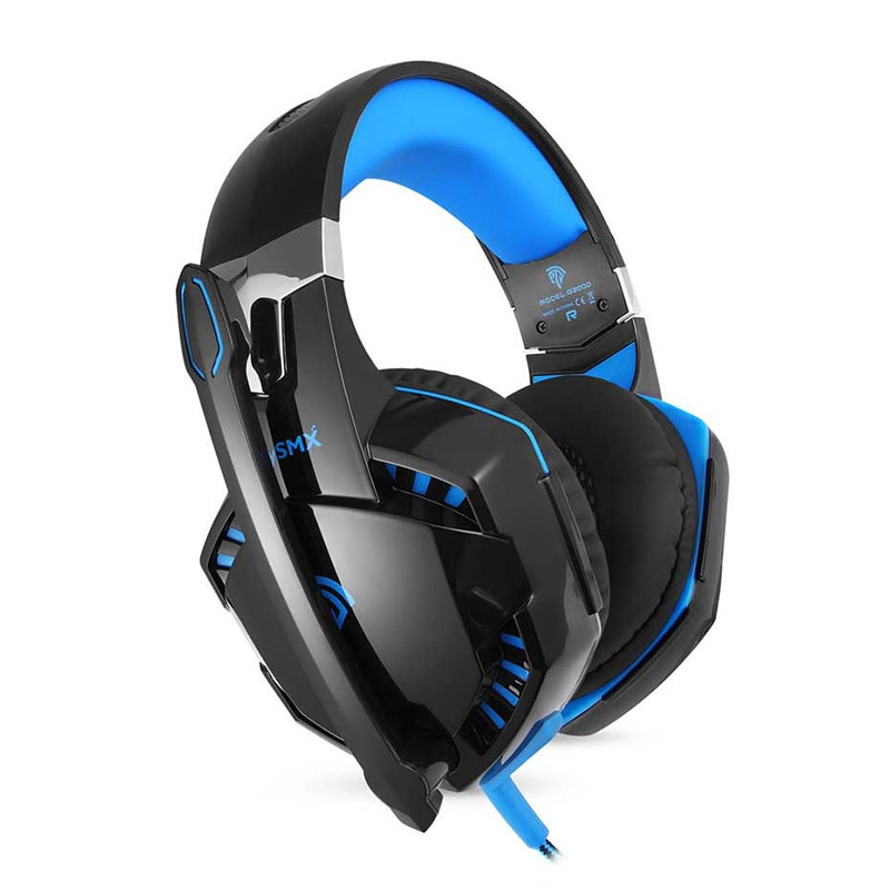 3.5mm Gaming Headset Mic LED Headphones Stereo Surround for PS3 PS4 Xbox ONE 360 Blue - 1
