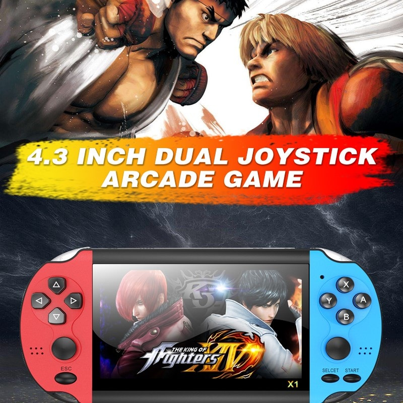 5.1 inch Double Rocker Handheld Game Console Support TV Output X12 - 7