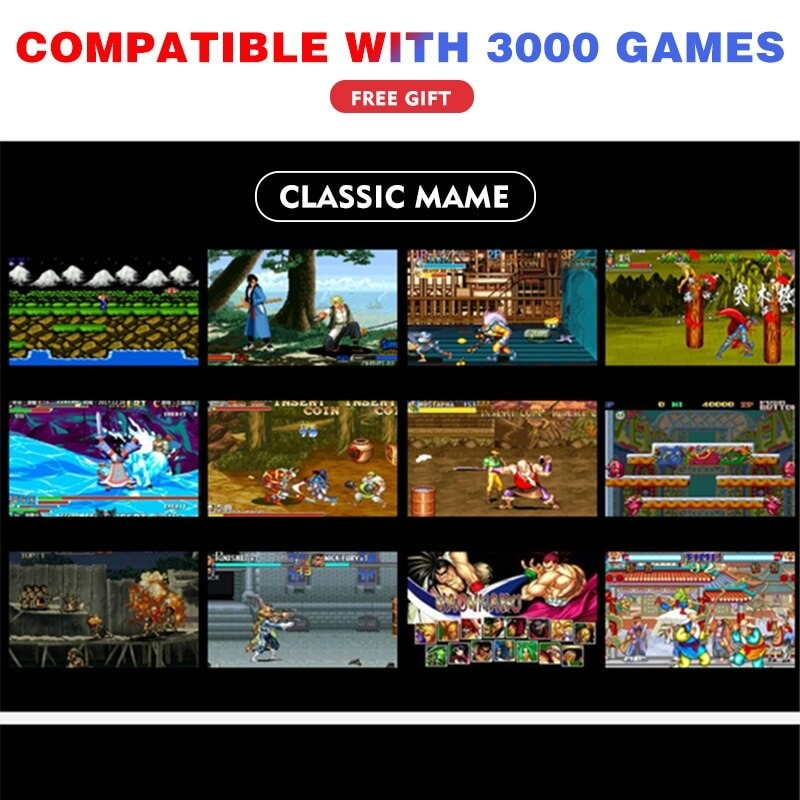 5.1 inch Double Rocker Handheld Game Console Support TV Output X12 - 4