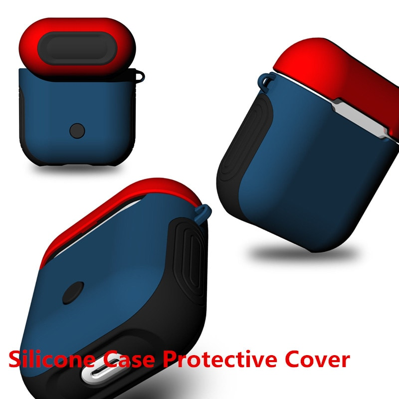 AirPods Silicone Case Protective Cover for Apple Airpod Charging Case Red blue - 5