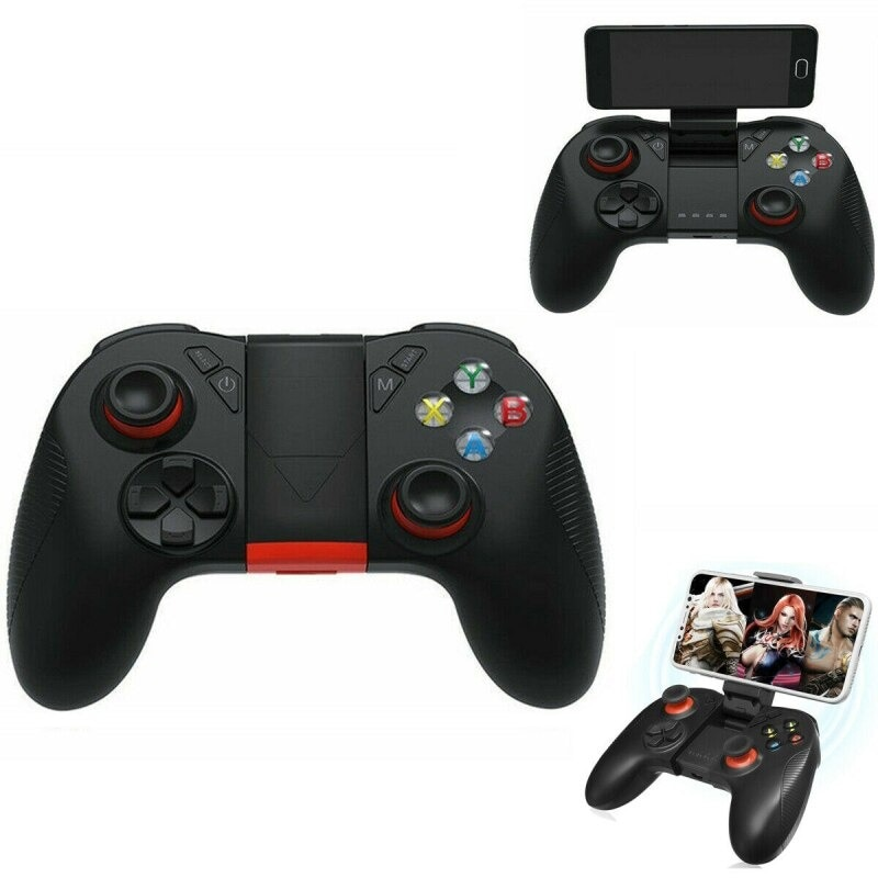 B04 Wireless Bluetooth Gamepad Remote Game Controller Joystick For PUBG Mobile Game Controller For PC TV BOX Smartphones Black - 5