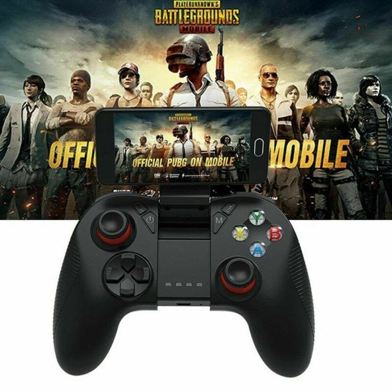 B04 Wireless Bluetooth Gamepad Remote Game Controller Joystick For PUBG Mobile Game Controller For PC TV BOX Smartphones Black - 1