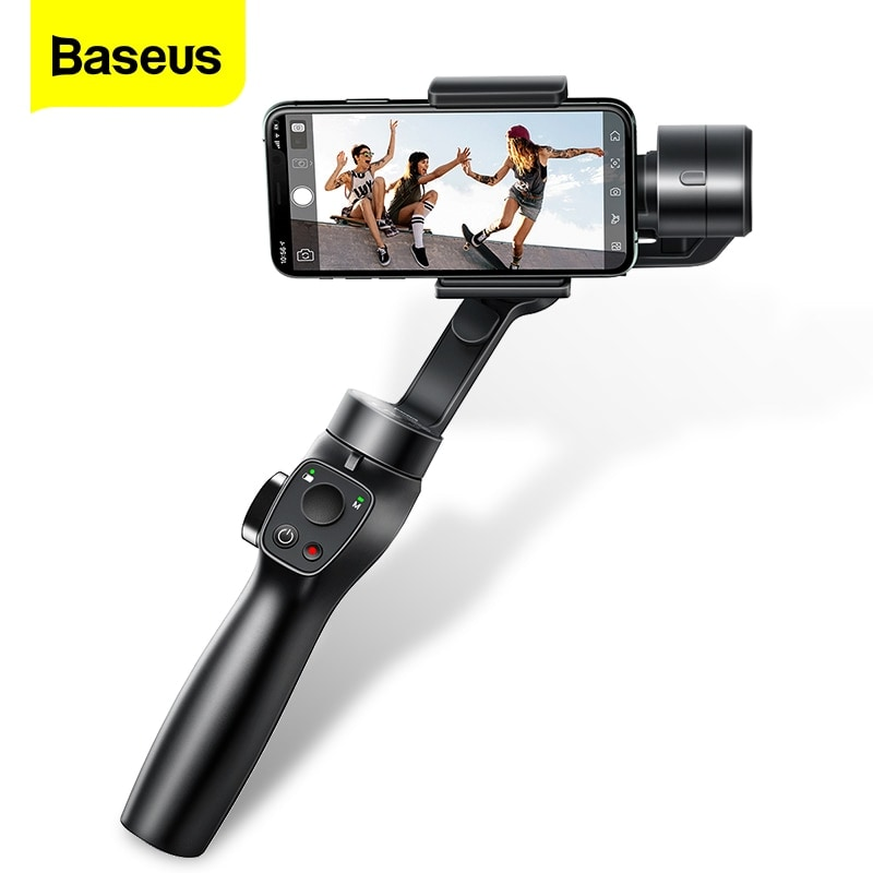 Baseus 3 Axis Smartphone Vlog Gimbal for Iphone and Android Smartphones Black - 1