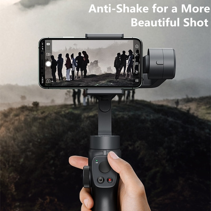 Baseus 3 Axis Smartphone Vlog Gimbal for Iphone and Android Smartphones Black - 4