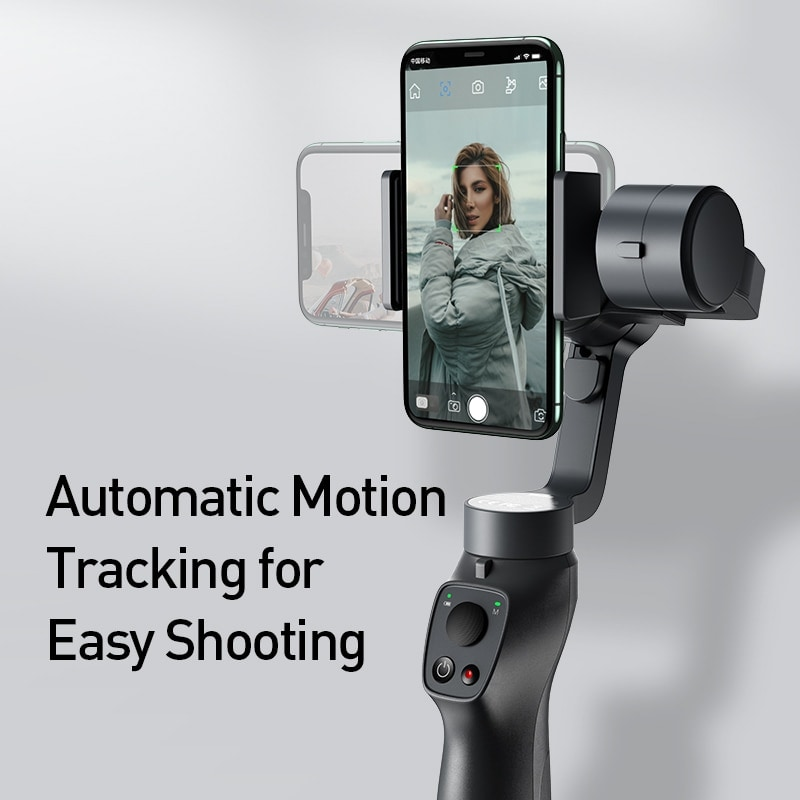 Baseus 3 Axis Smartphone Vlog Gimbal for Iphone and Android Smartphones Black - 5