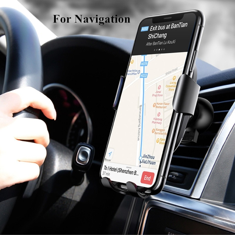 Baseus Fast Wireless Car Charger Air Vent Phone Holder Black - 5