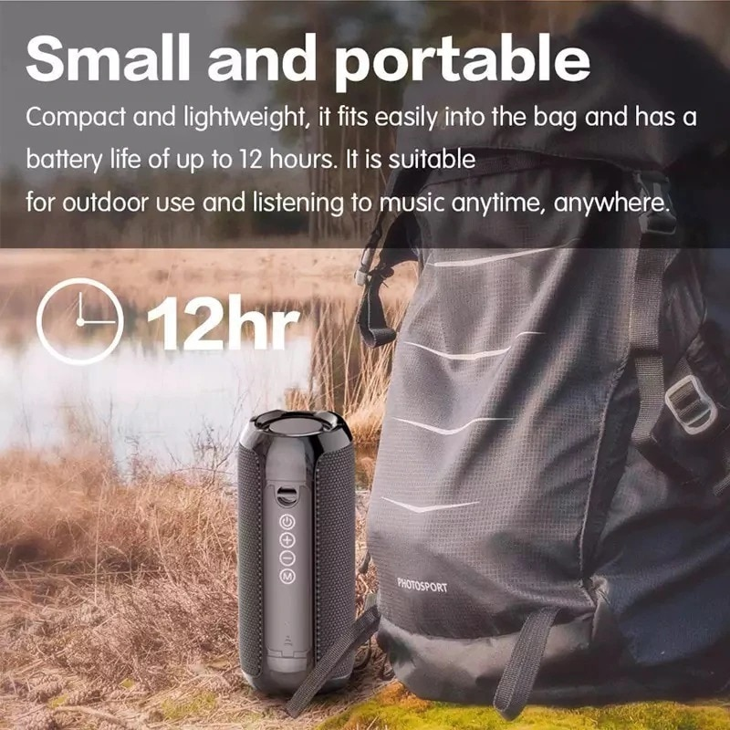 Bluetooth Portable Speaker 3D Stereo Music Surround Soundbar Blue - 3