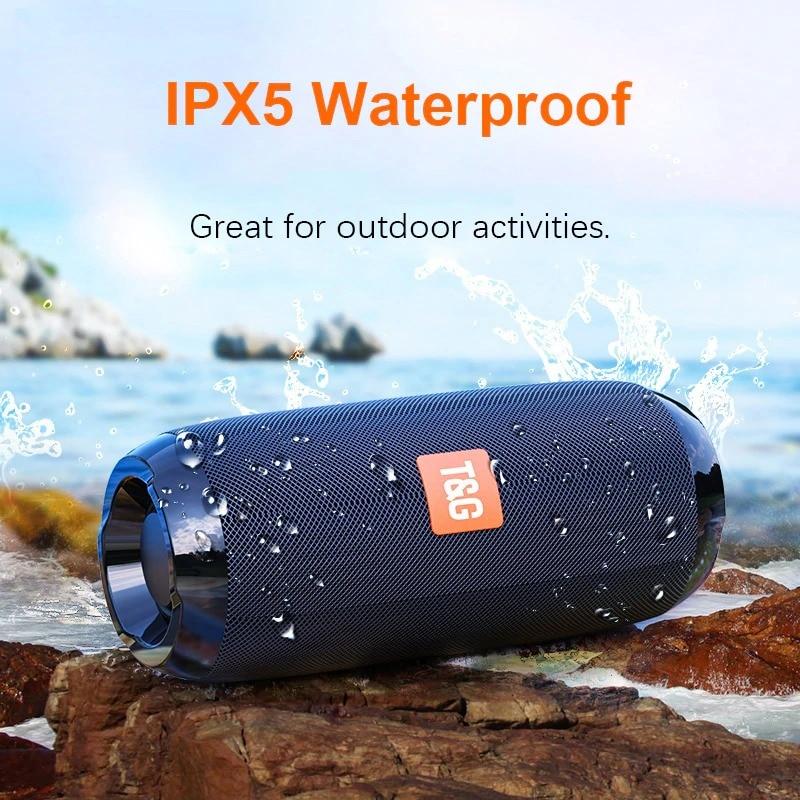Bluetooth Portable Speaker 3D Stereo Music Surround Soundbar Blue - 2