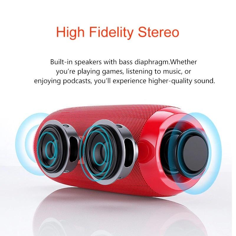 Bluetooth Portable Speaker 3D Stereo Music Surround Soundbar Blue - 4