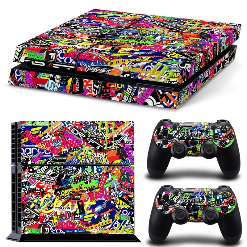Brand New Cool Wallpaper Skin Body Sticker For Customise & Protect Your PS4 Gaming Console   Multi-Colored - 1
