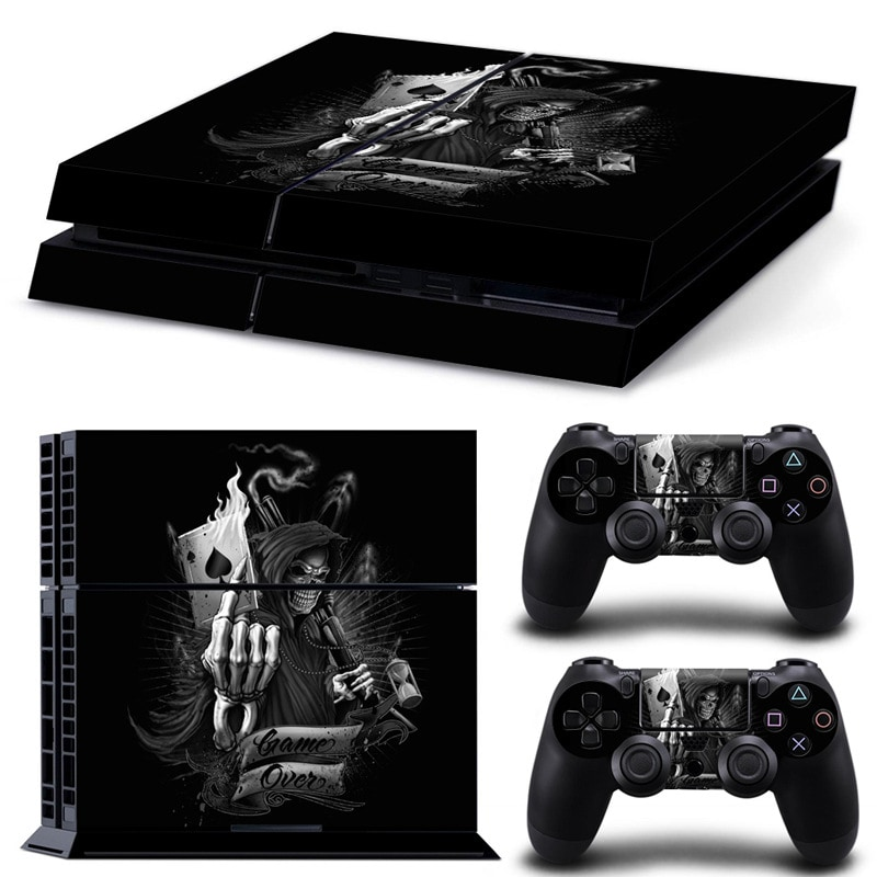 Brand New PS4 Skin Body Sticker, Wallpaper sticker & Protector for PlayStation gaming console, Black - 1
