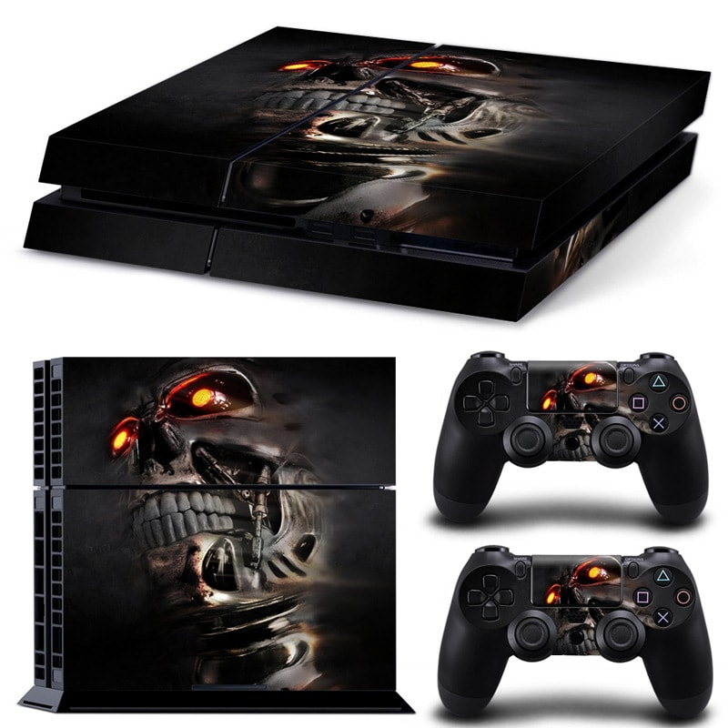Cool Wallpaper Skin Body Sticker For customise & Protect Your PS4 Gaming Console Black - 1