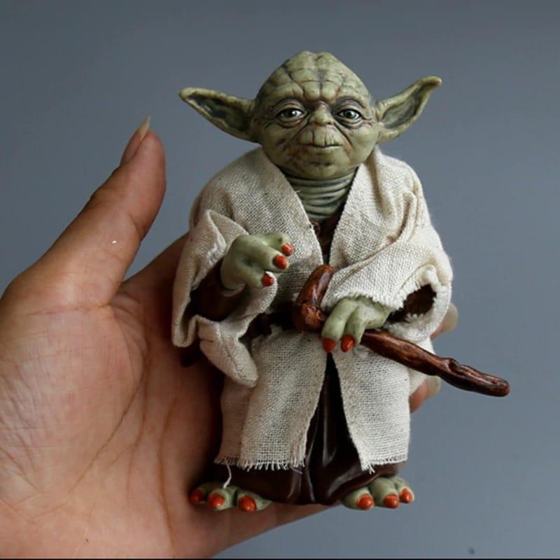 Disney Star Space Wars Master Yoda PVC Action Figure Toy Yoda Model Collectible Toys For Children Boys Christmas Birthda Movie & TV - 1