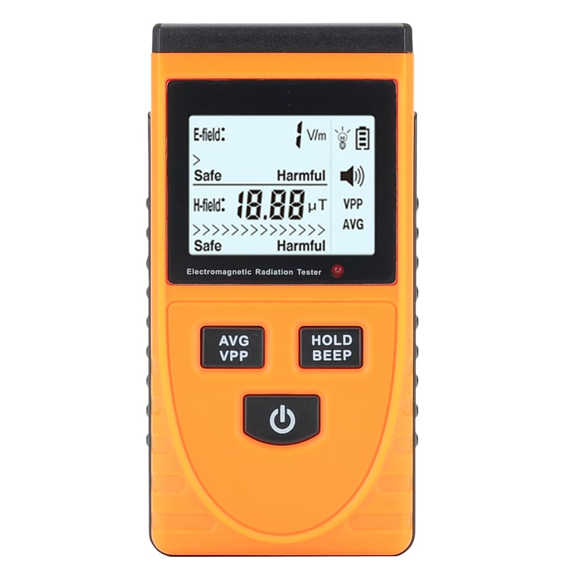 Electromagnetic Frequency Radiation Detector - 5Hz To 3500MHz, 1 To 1999V/m Range, LCD Display, Ghost Detector - 2