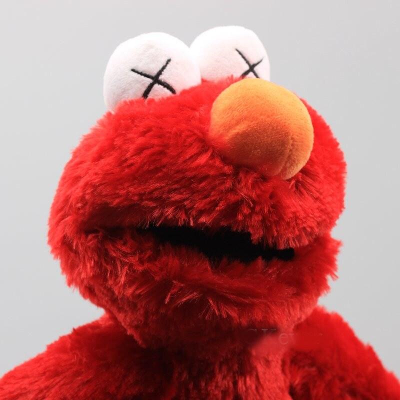 Elmo Fabric Doll Sesame Street Stuffed and Plush Toy Red - 4