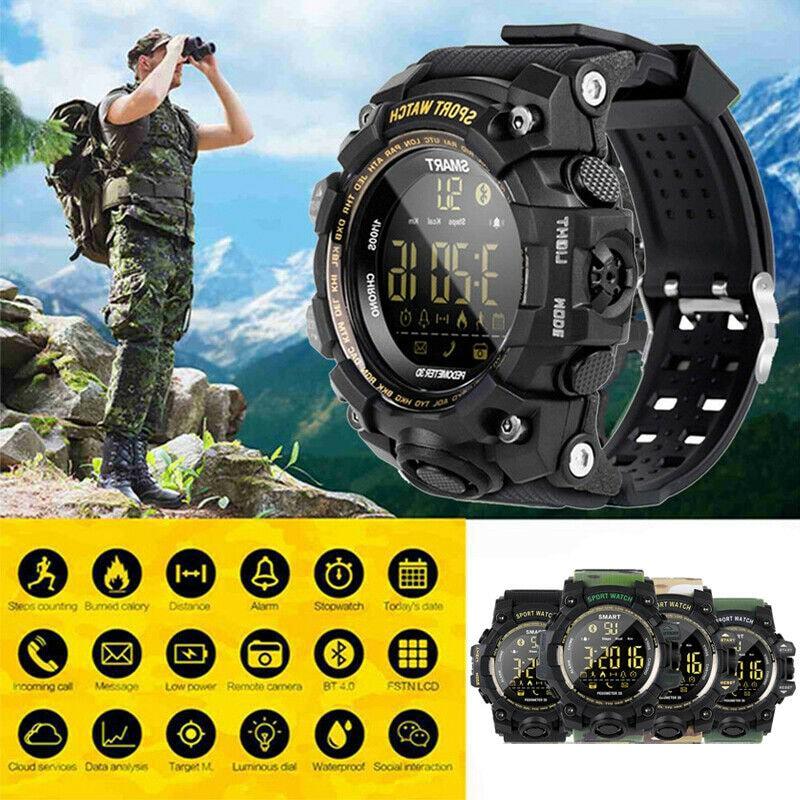 EX16S Waterproof Smart Sport Watch Bluetooth Pedometer Men Wristwatch Green - 5