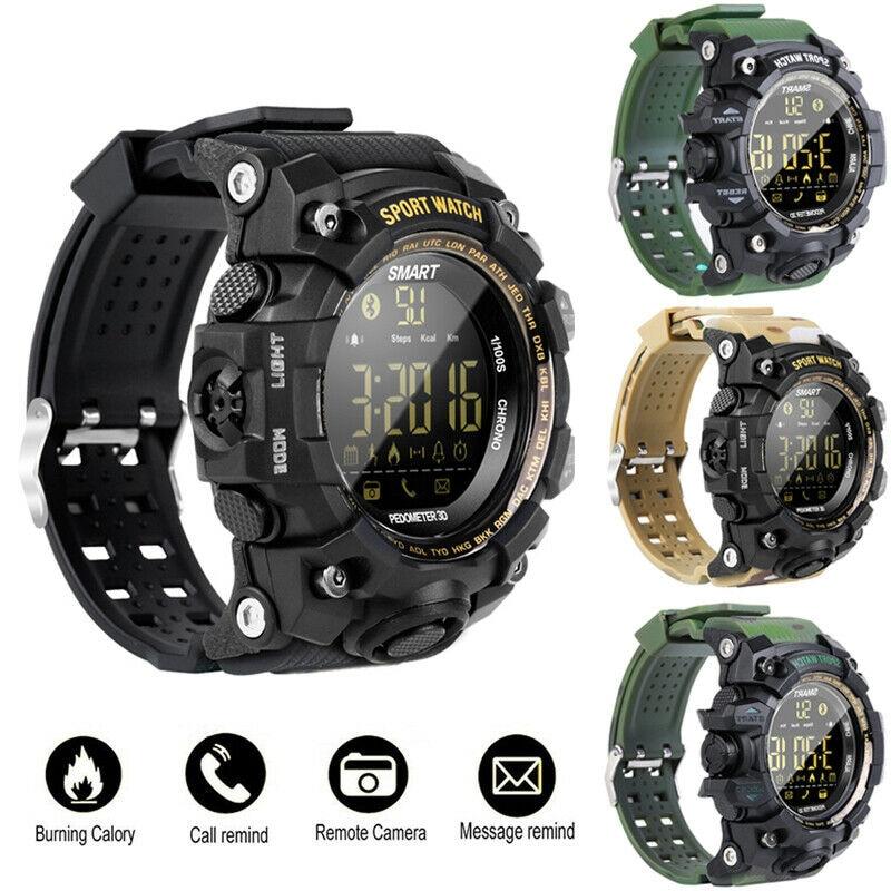 EX16S Waterproof Smart Sport Watch Bluetooth Pedometer Men Wristwatch Green - 3