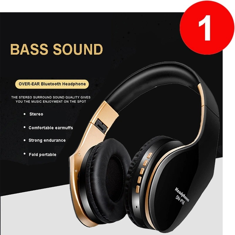 Foldable Adjustable Gaming Earphones With Mic For PC Phone Black - 2