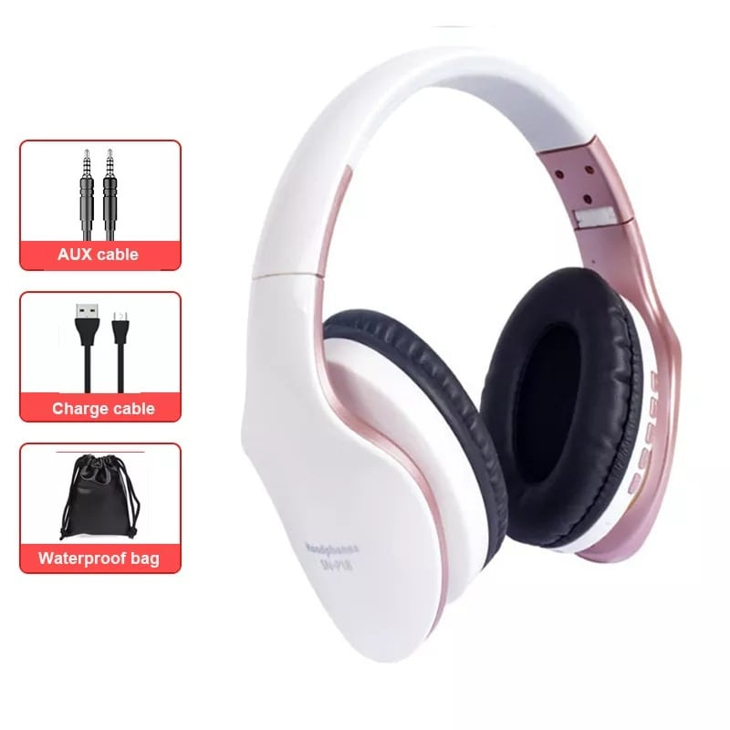 Foldable Adjustable Gaming Earphones With Mic For PC Phone Gold - 1