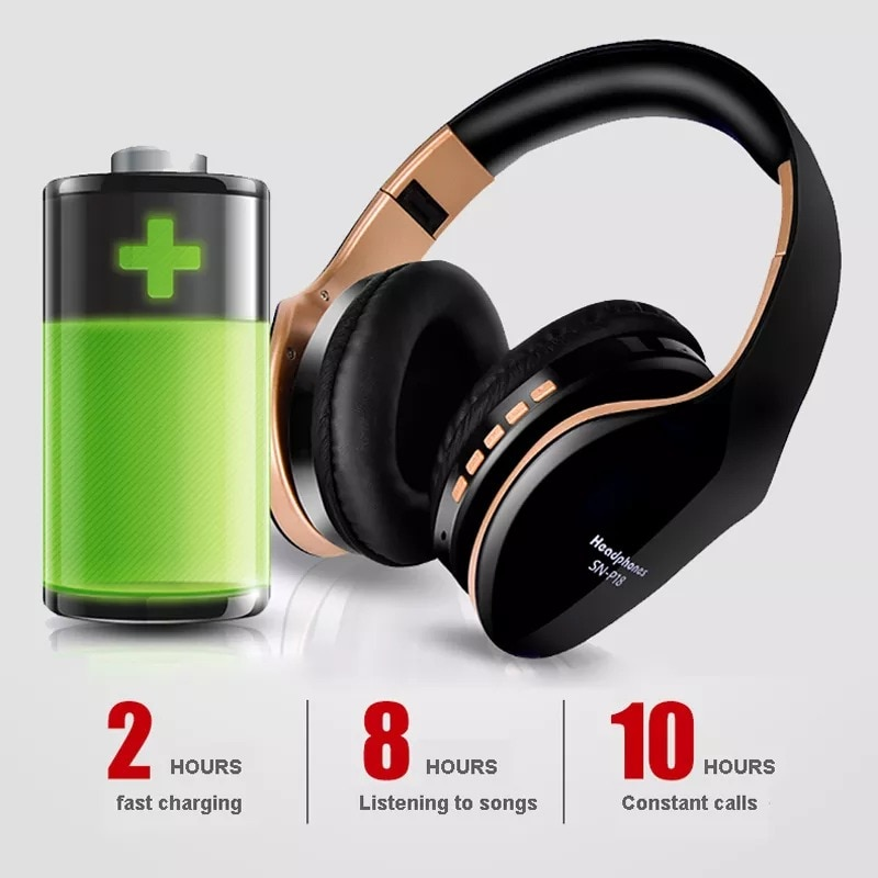 Foldable Adjustable Gaming Earphones With Mic For PC Phone Gold - 5