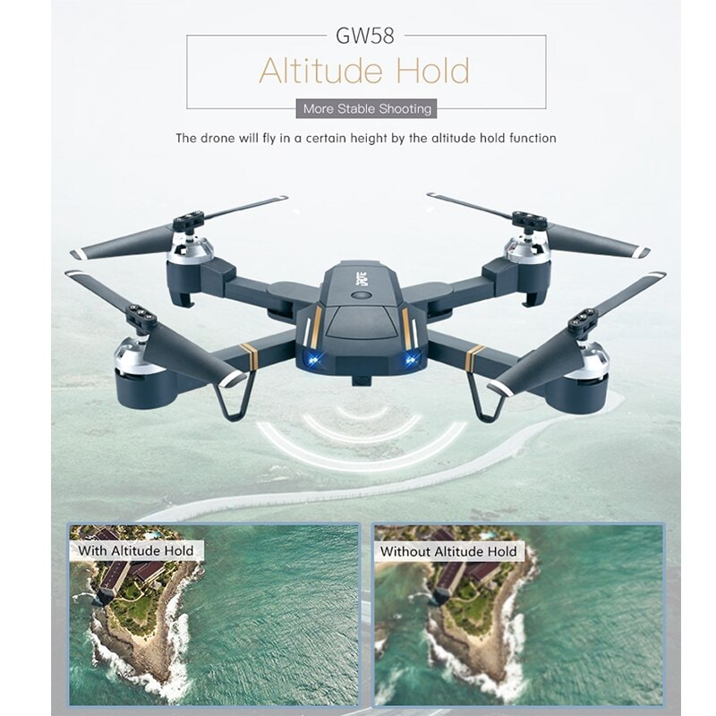Folding Selfie Drone GW58/XT-1 with HD Camera Headless Mode Hover Quadcopter - 5