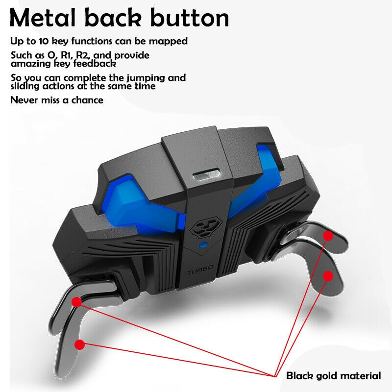 For PS4 Slim/Pro Controller Gamepad Back Expansion Button FPS Mapping Key Adapter Turbo MODS Elite Paddies - 11