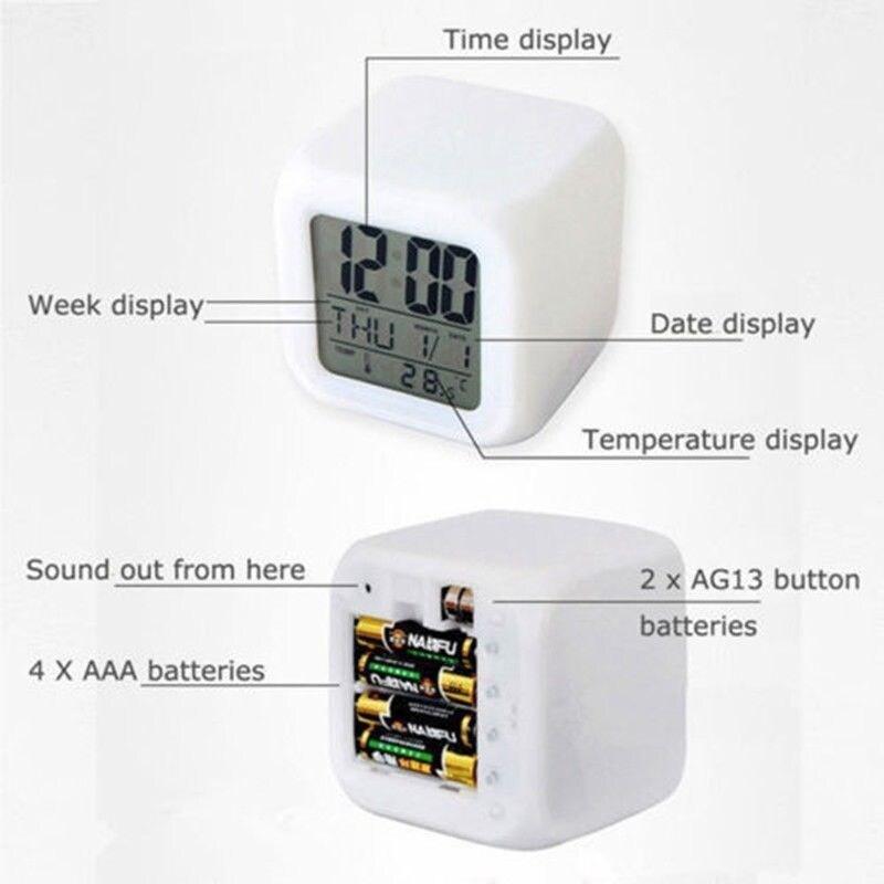 Fortnite Game Figures Color Changing Night Light Alarm Clock Kids Toy Gift - 2